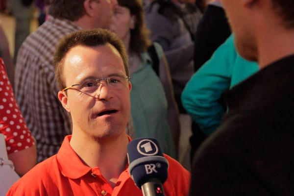 Patrick Brehmer bei einem Interview. (Foto: SOD/ Florian Conrads)
