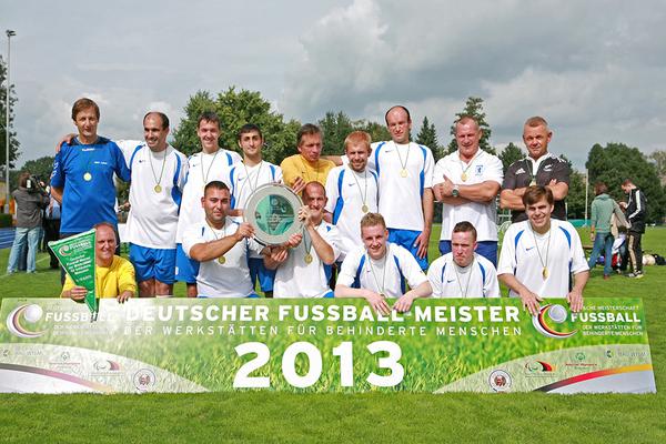Die Mannschaft der BWB Berlin wurde 2013 Deutscher Fußball-Meister der Werkstätten. (Foto: BAG WfbM)
