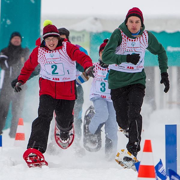 Sportart Schneeschulauf. (Foto: SOD/ Stefan Holtzem)