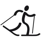 Zeichen für Ski Langlauf