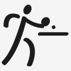 Zeichen für Tischtennis