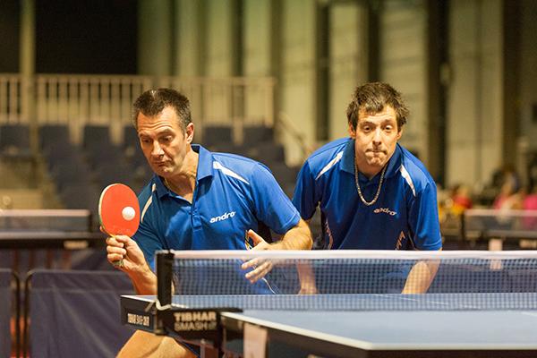 Jörg Hader (links) und Athlet Oliver Burbach sind ein Unified Team. (Foto: SOD/Luca Siermann)