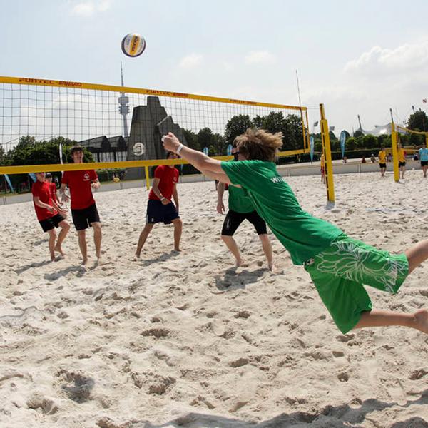 Sportart Beachvolleyball. (Foto: SOD/ Shirin Engel)