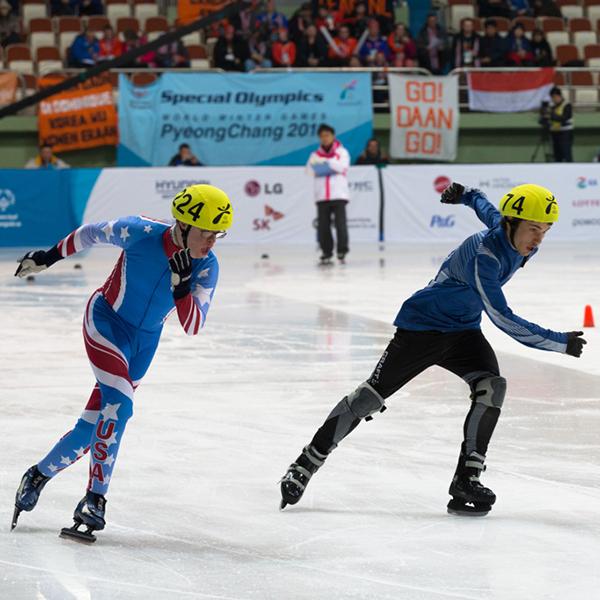 Sportart Eisschnell-Lauf. (Foto: SOD/Luca Siermann)