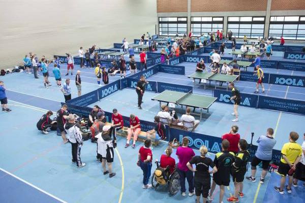 Tischtennis-Wettbewerbe bei den Landesspielen in Niedersachsen 2015. (Foto: SO Niedersachsen)