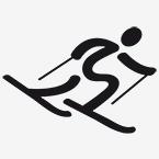 Zeichen für Ski Alpin