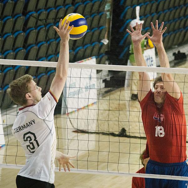 Sportart Volleyball. (Foto: SOD/Jörg Brüggemann (OSTKREUZ))