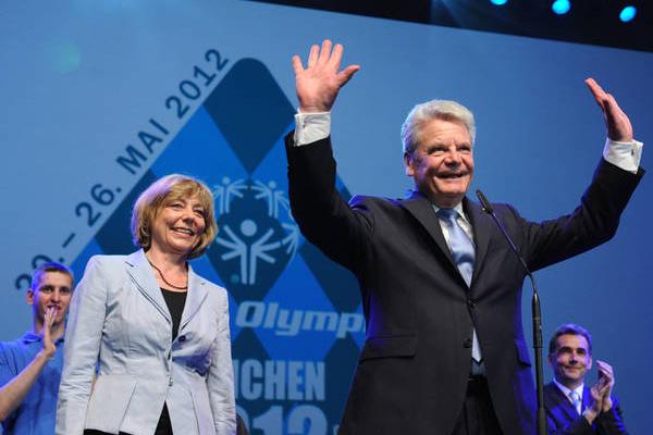 Bundespräsident Joachim Gauck und Schirmherrin Daniela Schadt eröffnen die Spiele. (Foto: SOD/ Juri Reetz)