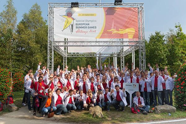 Die deutsche Mannschaft bei den Europäischen Spielen in Antwerpen 2014. (Foto: SOD/Luca Siermann)