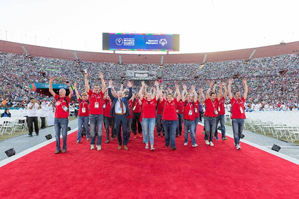 Die deutschen Athleten bei den Weltspielen in Los Angeles 2015. (Foto: SOD/Luca Siermann)